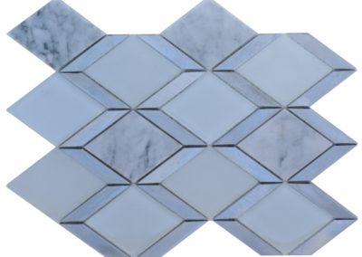G56 Glass/Marble Rhombus Mosaic